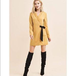 Dynamite Long Sleeve Blazer Dress